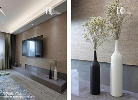 浪漫129平简约三居客厅设计案例三居现代简约家装装修案例效果图