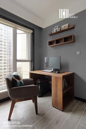 面积94平简约三居书房装修欣赏图片大全三居现代简约家装装修案例效果图