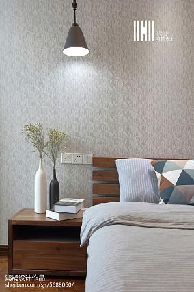 温馨100平简约三居卧室设计图三居现代简约家装装修案例效果图