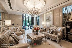 精选129平方新古典别墅客厅装修设计效果图片欣赏