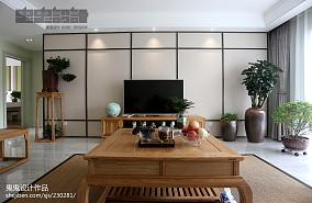 精选100平米三居客厅中式装修设计效果图片欣赏三居中式现代家装装修案例效果图