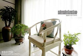 精美103平方三居客厅中式效果图片欣赏三居中式现代家装装修案例效果图