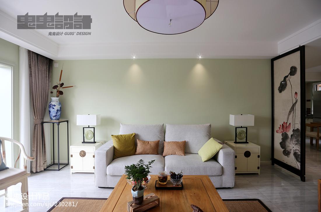 91平米三居客厅中式装修效果图客厅