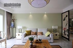 91平米三居客厅中式装修效果图三居中式现代家装装修案例效果图