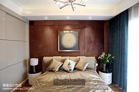 精选91平米三居卧室中式实景图三居中式现代家装装修案例效果图