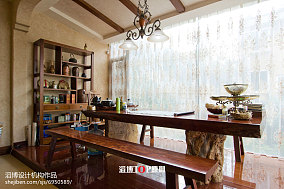 热门132平米美式别墅休闲区装修实景图片大全