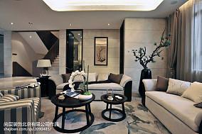 138平米中式别墅客厅实景图片欣赏