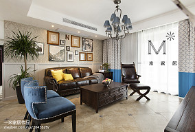2018精选91平米三居客厅美式装饰图片