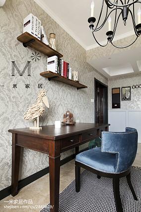 精美面积93平美式三居书房装饰图
