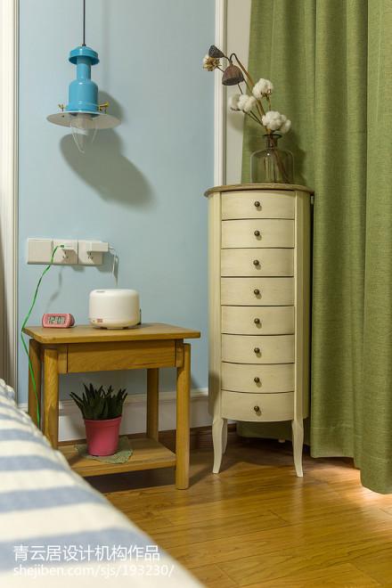 面积98平北欧三居卧室装修效果图卧室