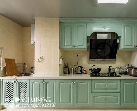热门面积90平北欧三居厨房效果图片餐厅1图