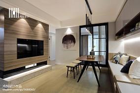 2018面积85平现代二居客厅装修图片大全二居现代简约家装装修案例效果图