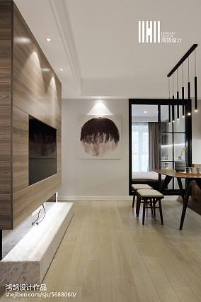 热门89平米二居客厅现代装饰图片欣赏二居现代简约家装装修案例效果图