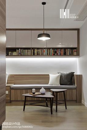 温馨76平现代二居装潢图二居现代简约家装装修案例效果图