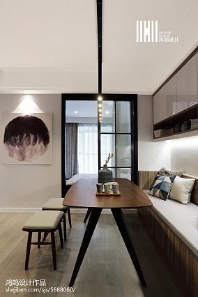 典雅74平现代二居图片欣赏二居现代简约家装装修案例效果图