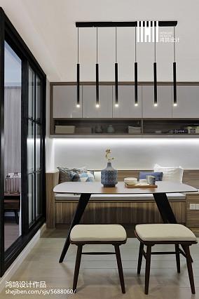 二居餐厅现代装修设计效果图二居现代简约家装装修案例效果图
