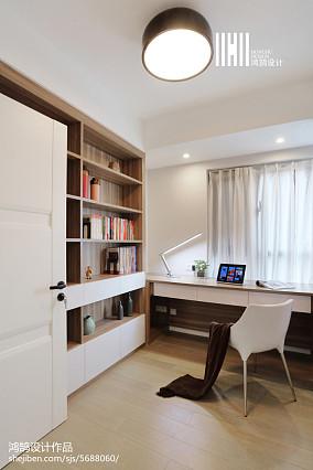 热门72平米二居书房现代欣赏图二居现代简约家装装修案例效果图