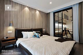 2018精选大小88平现代二居卧室装修设计效果图片二居现代简约家装装修案例效果图