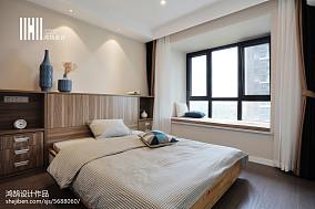 精选85平米二居卧室现代实景图片欣赏二居现代简约家装装修案例效果图