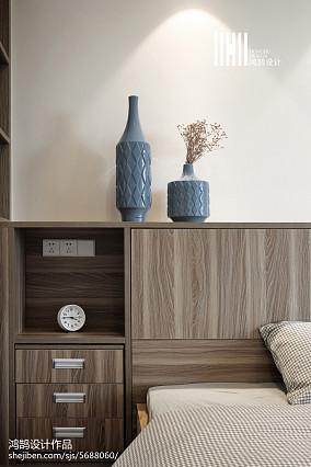 热门75平米二居卧室现代实景图片大全二居现代简约家装装修案例效果图