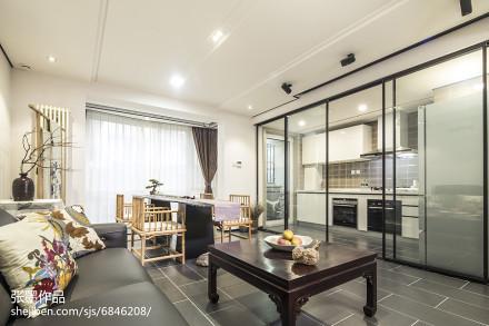 精美面积99平中式三居客厅装修设计效果图片欣赏
