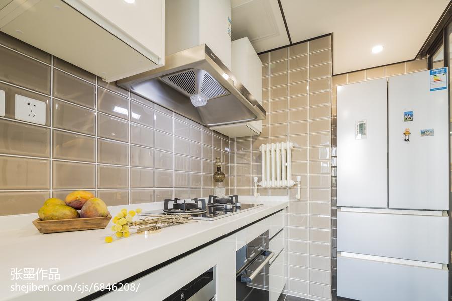 精选中式三居厨房装饰图片餐厅中式现代厨房设计图片赏析