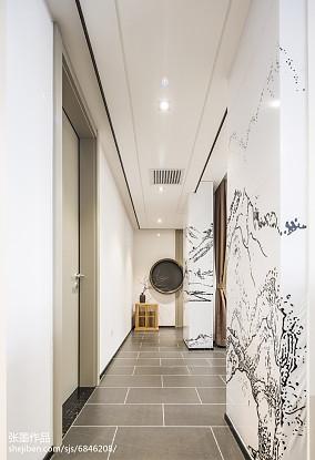 2018精选三居过道中式效果图片三居中式现代家装装修案例效果图