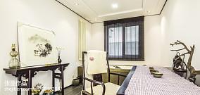 精美105平中式三居书房实拍图三居中式现代家装装修案例效果图