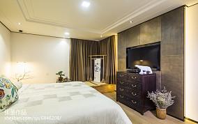 精美面积93平中式三居卧室实景图三居中式现代家装装修案例效果图