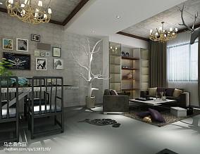 精美114平米复式客厅效果图片欣赏
