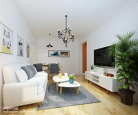 精选87平米二居客厅北欧设计效果图二居北欧极简家装装修案例效果图
