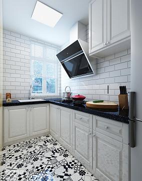 典雅85平北欧二居厨房设计效果图二居北欧极简家装装修案例效果图