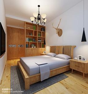 2018面积73平北欧二居卧室装修欣赏图片大全二居北欧极简家装装修案例效果图