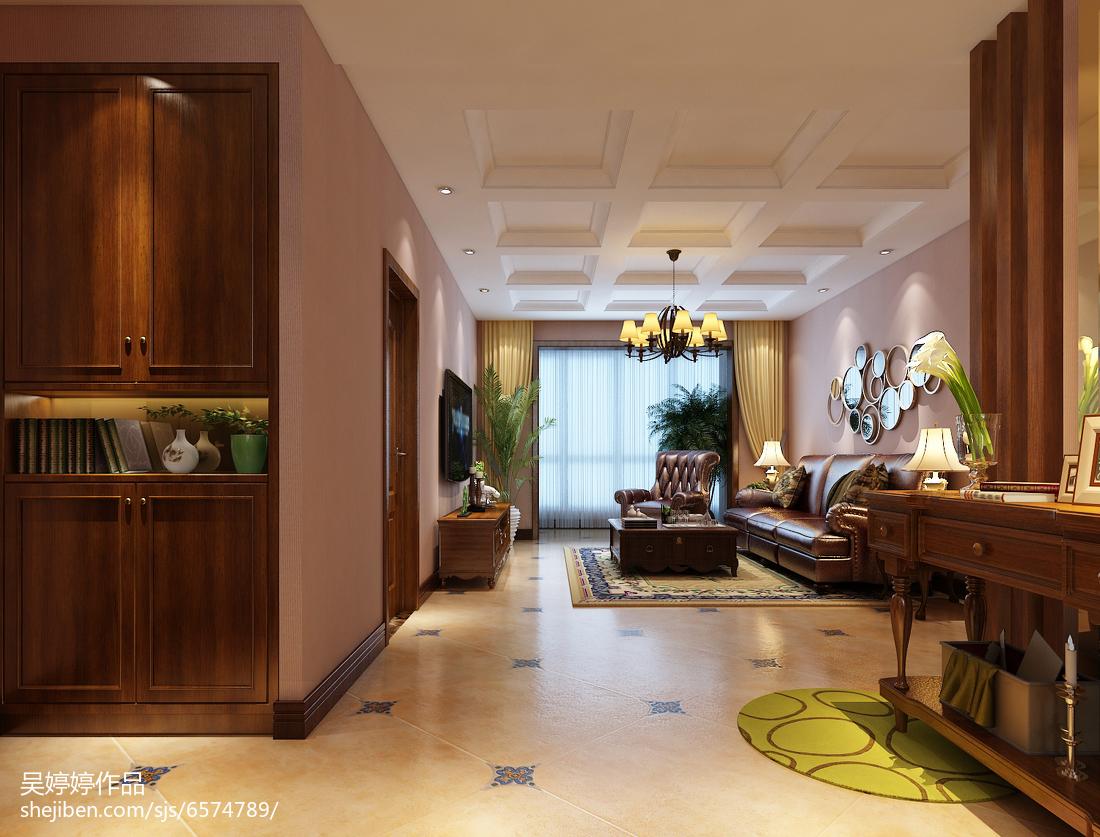 热门105平方三居客厅混搭装修实景图片大全三居潮流混搭家装装修案例效果图