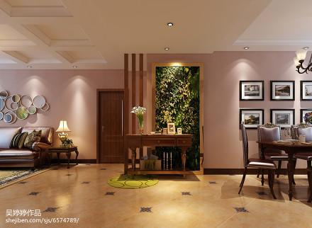 平米三居玄关混搭装修设计效果图片欣赏玄关