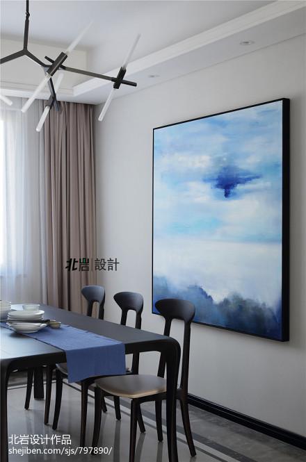 简洁75平中式三居餐厅装饰图厨房