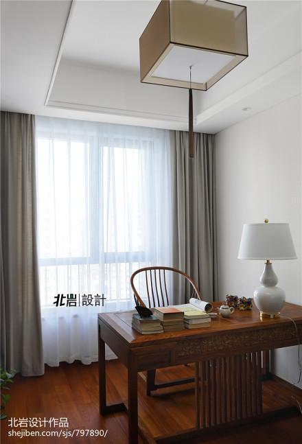温馨83平中式三居书房图片欣赏