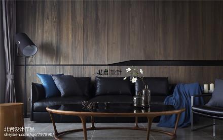 精致288平现代复式客厅美图复式现代简约家装装修案例效果图
