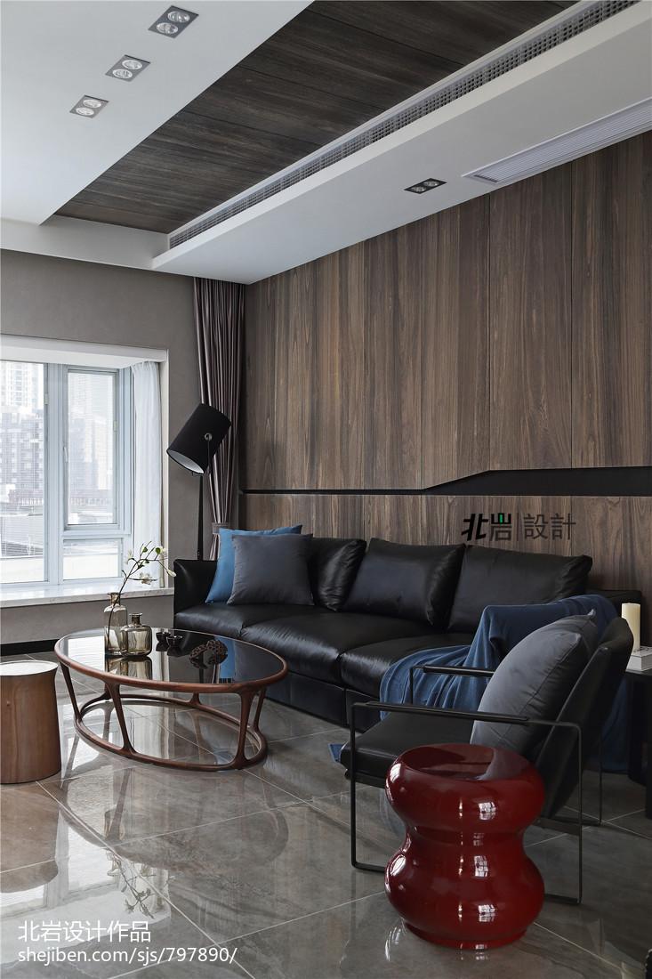 大气55平现代复式客厅图片大全客厅现代简约客厅设计图片赏析