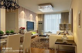 新中式两室两厅装修墙画效果图
