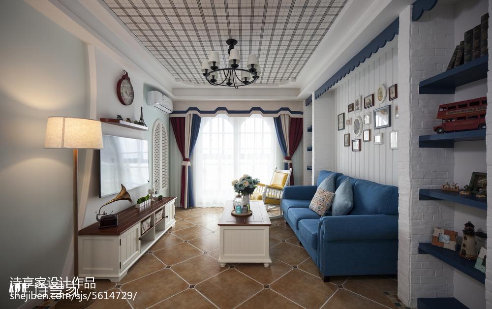 99平米三居客厅地中海装饰图片