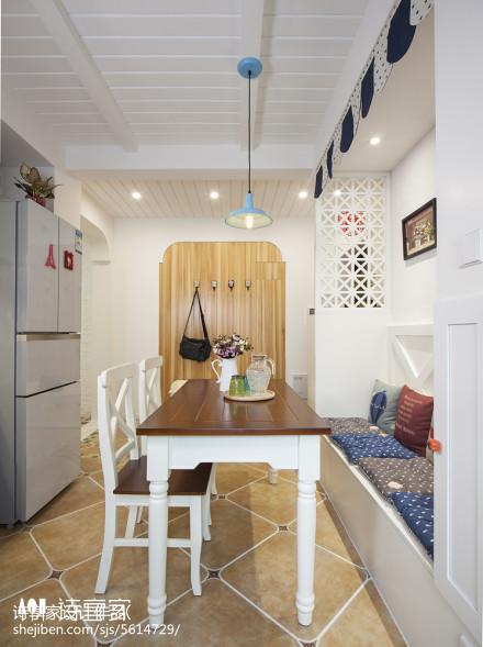 清新地中海风格餐厅装修效果图厨房2图