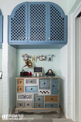 地中海风格家居三居室玄关设计玄关1图地中海设计图片赏析