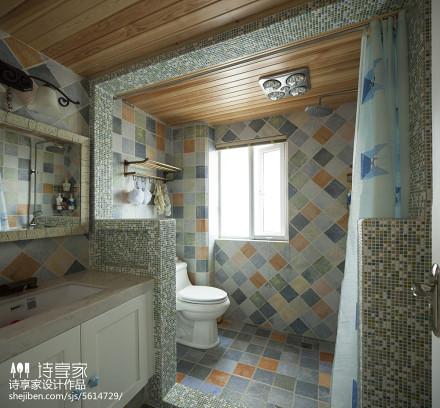 地中海风格卫浴设计效果图卫生间