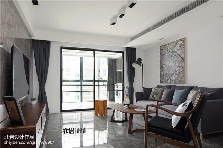 温馨200平现代三居客厅设计美图三居现代简约家装装修案例效果图