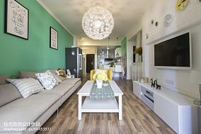 精选109平米三居客厅北欧装修实景图片