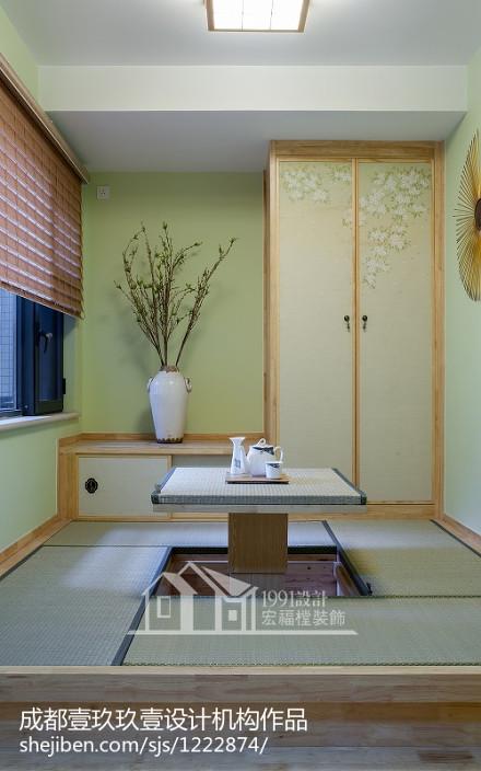 温馨66平日式二居休闲区设计图功能区
