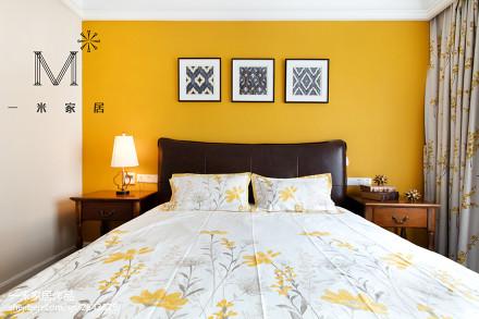 精选106平米三居卧室新古典装修实景图片欣赏卧室