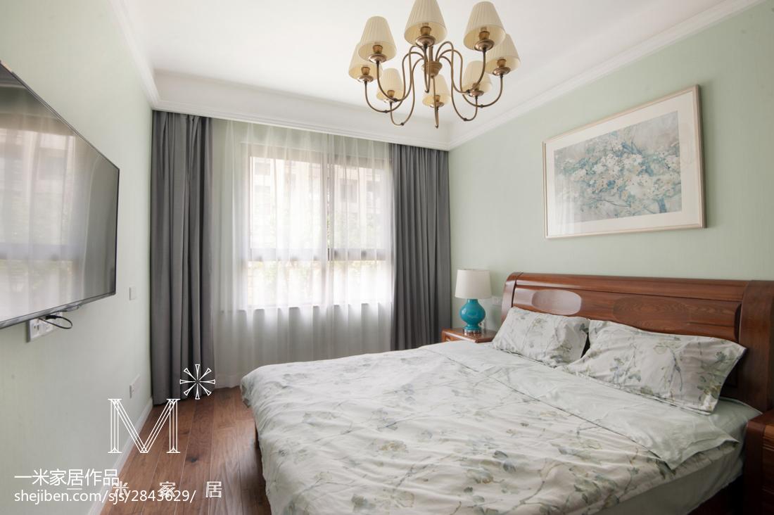 明亮116平新古典三居卧室设计效果图卧室1图美式经典卧室设计图片赏析