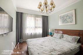 明亮116平新古典三居卧室设计效果图